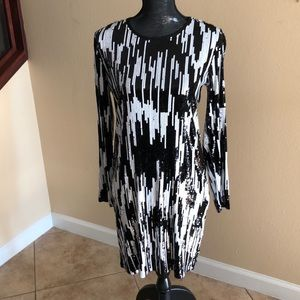 Michael Kors black & white sequined dress